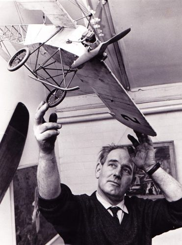 Douglas Bianchi with the Vickers 22 Model during the filming of Those Magnificent Men and their Flying Machines